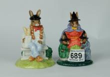 Royal Doulton Limited edition Bunnykins figures Parisian DB317 and Witches Cauldron DB293 (2) (both boxed with certificates)
