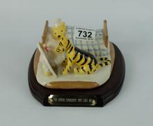 Royal Doulton Winne the pooh tableau figure I've found somebody like me WP22, limited edition with wood base, boxed with cert