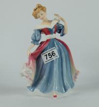 Royal Doulton figure Amy HN3316, figure of the year 1991 with certificate