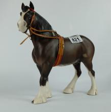Beswick model of Clydesdale Heavy Horse 2465 in show harness