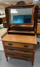 Art Nouveau Rosewood Mirror backed dressing table