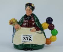 Royal Doulton Old Balloon Seller Character Teapot D6855