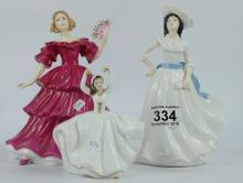 Royal Doulton figure Jennifer HN5090, Margret HN4927 and miniature Karen HN3749 (3)