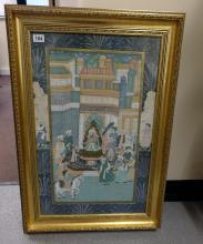 Asian Painting on silk of Palace scene