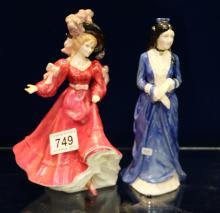 Royal Doulton lady figures to include Patricia HN3365 and Clara Hamps (seconds) (2)