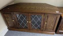 Oak reproduction television cabinet