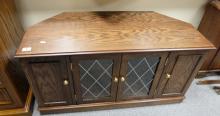 Oak reproduction television cabinet