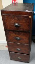 old pitch pine filling cabinet