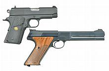 2 COLT SEMI AUTO PISTOLS: OFFICERS ACP & MATCH