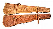 2 RIFLE SCABBARDS.