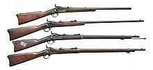 4 U.S. SPRINGFIELD TRAPDOOR RIFLES.