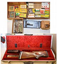 2 REMINGTON 32 STOCK SETS, AMMO & CASE.