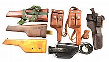 BROOMHANDLE & HIGH POWER HOLSTERS & STOCKS.