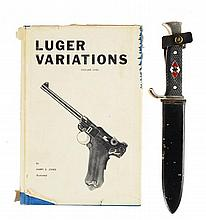 NAZI YOUTH DAGGER & JONE'S LUGER BOOK.