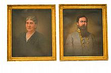 PORTRAITS OF COMMANDER WILLIAM WEBB & WIFE.