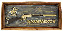 WINCHESTER LIMITED EDITION BRONZE PLAQUE.