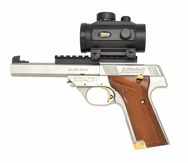 Mitchell Arms Stainless Victor Semi Auto Pistol.