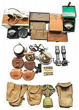 LARGE GROUP OF JAPANESE MILITARY PIECES.