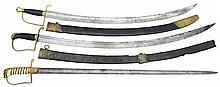 3 EUROPEAN OR AMERICAN SWORDS.