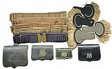 CARTRIDGE BOXES, WEB BELTS & EPAULETTES.