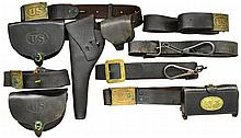 LOT OF INDIAN WAR ERA LEATHER.