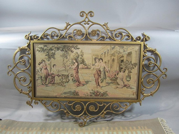 H18-52  FRAMED NEEDLEPOINT