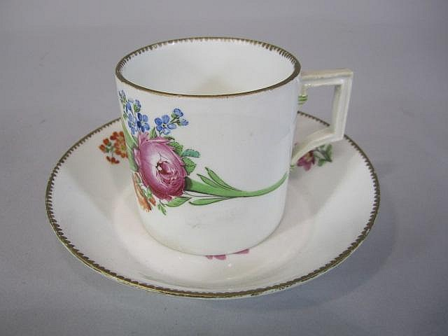 H80-204  MEISSEN MARCOLINI CUP & SAUCER