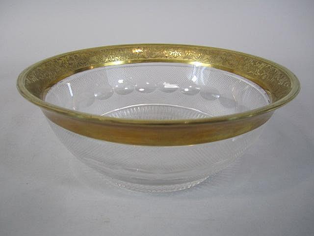 H80-202  MOSER SPLENDID GOLD BOWL