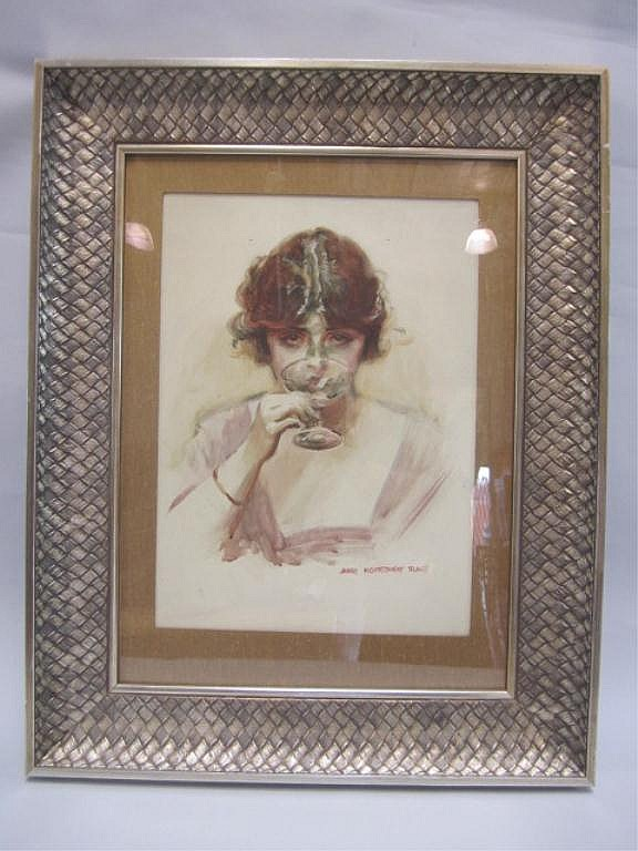 A45-67  JAMES MONTGOMERY FLAGG WATERCOLOR