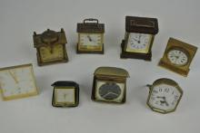 GROUP OF 8 ASSORTED CLOCKS