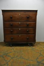 AMERICAN 19TH CENTURY SECRETARY CHEST