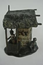 BH14  19th CENTURY AUSTRIAN COLD PAINTED LAMP