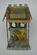 BH15  19th CENTURY AUSTRIAN COLD PAINTED LAMP