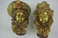 BH18  PAIR OF BRONZE BUST SIGNED GUILLEMIN