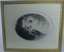 ICART PENCILED SIGNED DATED 1924