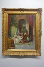 BH343 19TH CENTURY OIL PAINTING ARTIST SIGNED