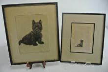 TWO LITHOGRAPHS ARTIST SIGNED