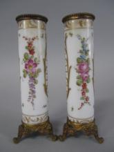 7 -  PAIR OF CONTINENTAL BUD VASES