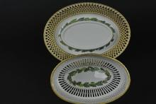 19TH CENTURY VIENNA RETICULATED BOWL & UNDER PLATE