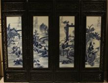 Set of Chinese blue and white porcelain plagues