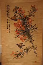 Chinese antique water color scroll