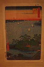 2PCS Japanese antique woodblock print