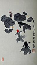 Wu Zuoren ; Chinese Scroll Painting
