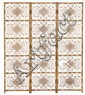 Asian-style bent bamboo folding screen from