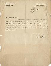 Bohr, Niels. Typed letter signed, 23 June 1925