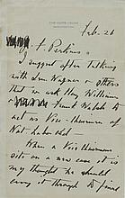 Roosevelt, Franklin D. Autograph letter signed.