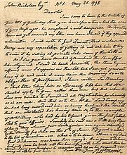 Morris, Robert. Autograph letter signed.