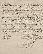 George III. Autograph letter signed.