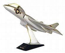 [Aviation]. Chance Vought F7U-3 Cutlass vintage prime contractor desk display model.