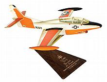 [Aviation]. North American T2J-1 Buckeye Jet Trainer vintage prime contractor desk display model.